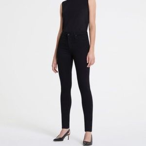 AG The Farrah High Rise Skinny in Super Black